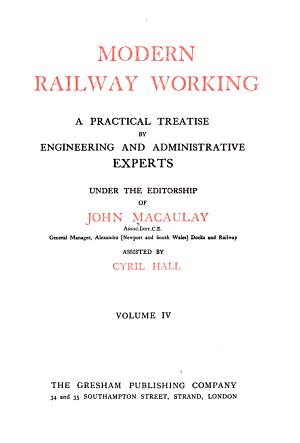 Modern Railway Working