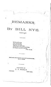 Remarks by Bill Nye