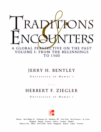 Traditions   Encounters  From The Beginnings To 1500