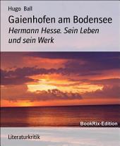 Gaienhofen am Bodensee: Hermann Hesse. Sein Leben und sein Werk