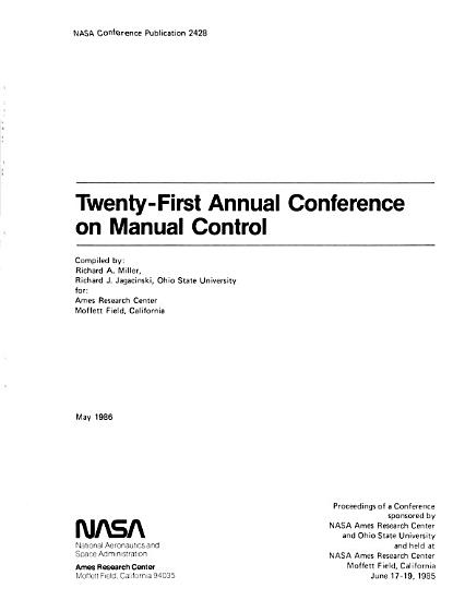 Twenty First Annual Conference on Manual Control PDF