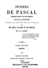 Pensées de Pascal: disposées suivant un plan nouveau, Volume2