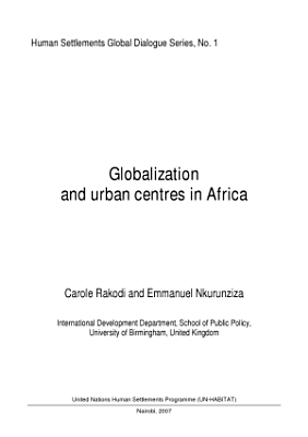 Globalization and Urban Centres in Africa PDF