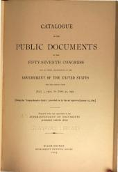 Catalogue of the public documents of the ... Congress ... and of all departments of the government of the United States for the period ...: Issue 6