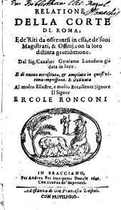 Relatione della corte di Roma: Volume 3