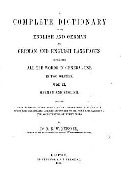 A complete dictionary of the English and German and English languages0 PDF