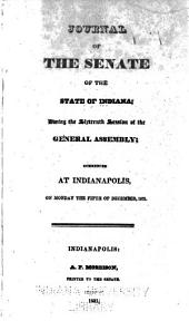Journal of the Senate of the State of Indiana at Their ... Session