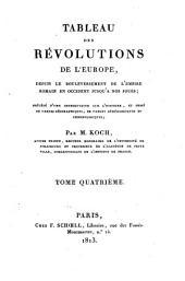 Tableau des révolutions de l'Europe: Atlas