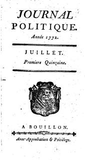 Journal politique: 1772,7/12