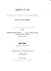 Library of the World's Best Literature, Ancient and Modern: Volume 4