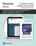 Principles of Operations Management Pearson Etext Combo Access Card PDF