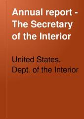 Annual Report - The Secretary of the Interior