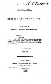 England and the English: Volume 2