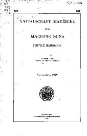 Antiaircraft Matériel for Machine Guns: Service Handbook