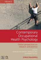 Contemporary Occupational Health Psychology PDF