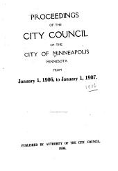 Proceedings of the City Council of the City of Minneapolis, Minnesota, ...: Volume 32