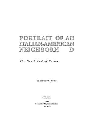 Portrait of an Italian American Neighborhood
