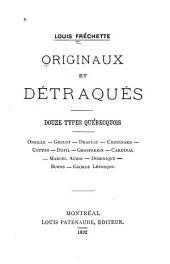 Originaux et détraqués: douze types québecquois, Oneille, Grelot, Drapeau ...
