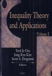 Inequality Theory and Applications: Volume 5