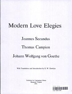 Modern Love Elegies PDF