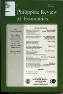 The Philippine Review of Economics