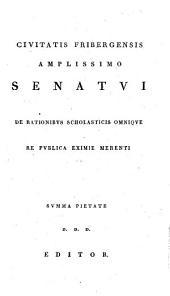 Q. Horatii Flacci De arte poetica liber: praemissa disputatione de consilio, quod Horatius in condendo poemate suo secutus sit
