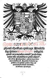 Opera. -(Venetiis, Gregorius de Gregoriis 1507-1531.)