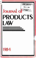 Journal of Products Law