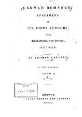 German Romance: Specimens of Its Chief Authors, Volume 2