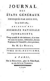 Journal des Et́ats généraux, convoqués par Louis XVI.: Volume19