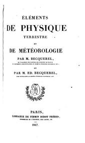 Éléments de physique terrestre et de météorologie