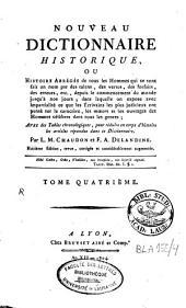Nouveau dictionnaire historique [...]: Volume4