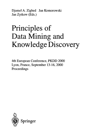 Principles of Data Mining and Knowledge Discovery PDF