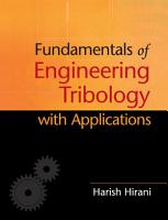Fundamentals of Engineering Tribology with Applications PDF