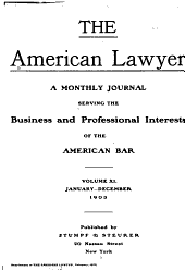 The American Lawyer: Volume 11