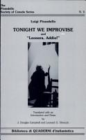 Tonight We Improvise   And   Leonora  Addio   PDF