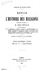 Revue de l'histoire des religions: Volume53