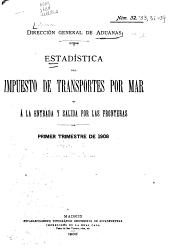 Estadística del Impuesto de Transportes por Mar y a la Entrada y Salida por las Fronteras