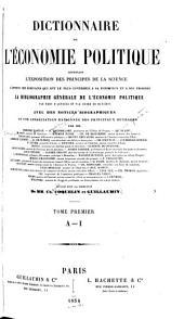 Dictionnaire de l'économie politique: Volume1