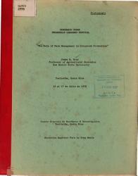 Seminario Sobre Desarrollo Ganadero Tropical The Role Of Farm Management In Livestock Production  Book PDF