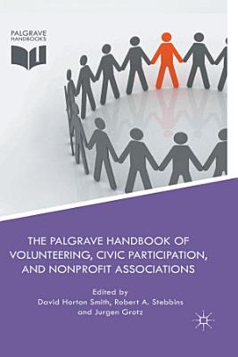 The Palgrave Handbook of Volunteering  Civic Participation  and Nonprofit Associations