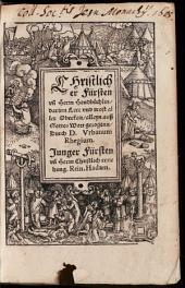 Christlicher Fürsten und Herrn Handbüchlin