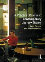 A Practical Reader In Contemporary Literary Theory