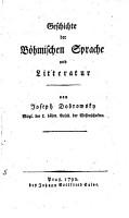Geschichte der B  hmischen Sprache PDF