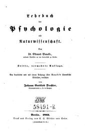 Lehrbuch der Psychologie als Naturwissenschaft