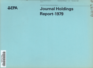 Journal Holdings Report PDF