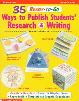 35 Ready To Go Ways to Publish Students  Research and Writing PDF