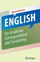 English for Academic Correspondence and Socializing PDF