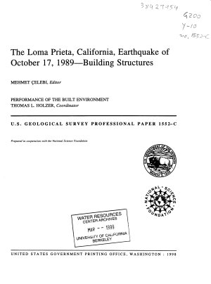 The Loma Prieta  California  Earthquake of October 17  1989  building Structures PDF