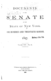 Documents of the Senate of the State of New York: Volume 8